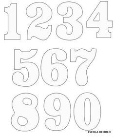 Free numbers clipart and patterns that you can use in all your craft projects. Lots of other craft clipart and patterns available. Alphabet Templates, Number Templates, Alphabet Stencils, Stencil Templates, Templates Free, Number Stencils, Printable Numbers, Busy Book, Alphabet And Numbers