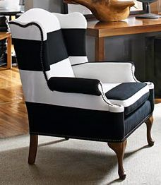 Sold  CAN REPLICATE Made In The USA Black And White Striped Vintage Round Wing  Back Chair With Yellow Velvet | Pinterest | Modern Chairs, Mid Century  Modern ...