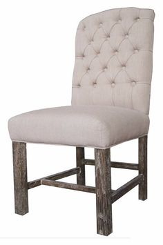 Leather Dining Kitchen Chairs SL 0506 Antique Style Tufted