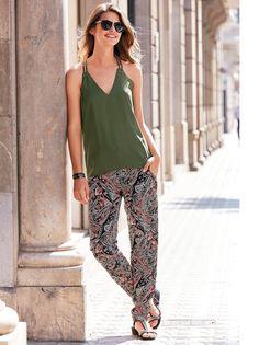Arrasa con los estampados más originales de la temporada luciendo este elegante pantalón con cómoda cintura elástica que te aportará el máximo estilo y - Venca - 115950