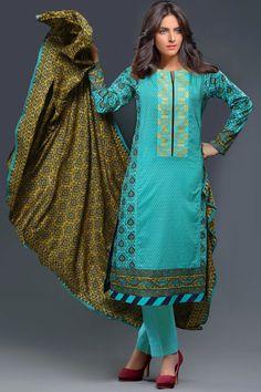 Product code: SUT-0601-LD 3-Pcs Suit SHIRT PRINTED (NECK EMBROIDERED PATCH) + LAWN DUPATTA PRINTED , COTTON TROUSER   Shop Online www.nimsay.pk