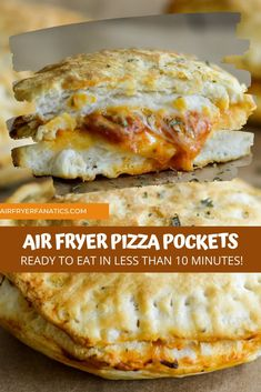 Air Fryer Oven Recipes, Air Fry Recipes, Air Fryer Dinner Recipes, Cooking Recipes, Pizza Pockets, Air Fried Food, Cooking Time, Family Meals, Main Dishes