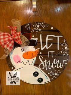Your place to buy and sell all things handmade Christmas Door Hanger – Snowman Door Decoration – Winter Door Decor, Christmas Wreath – Holi Christmas Signs Wood, Christmas Door Decorations, Christmas Wreaths, Christmas Door Hangers, Fall Wooden Door Hangers, Christmas Front Doors, Snowman Door, Christmas Snowman, Painted Snowman