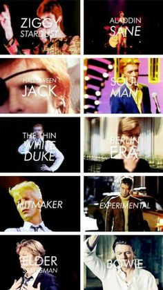 fashion eras of David bowie <3