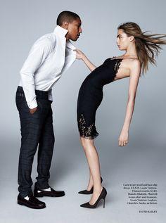 lace - M: Cara Delevigne and Pharrell Williams, P: David Bailey (Vogue UK September 2013)