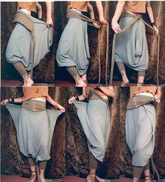 harem pants / romper. organic cotton/ hemp by RunWithTheTribe