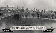 Aged Pilgrims' Asylum, Hornsey Rise | Asylum is primarily a place of safety, and many asylums were orphanage's or old people's homes, so although this isn't terribly a hospital, I have included a view as it part of London's old care system. The Aged Pilgrims' Friend Society was founded in 1807, providing pensions and almshouses for elderly Christians. A residential care home was opened in Hornsey Rise in 1871. By 1928 the charity had homes at Camberwell, Stamford ...