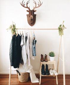 Scandi Wooden Clothing Rack More