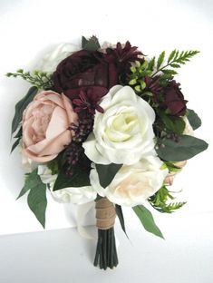 Lots of bride-to-bes may understand the wedding event flower they desire in their own bouquet, but are a little mystified about the remainder of the wedding flowers required to complete the ceremony and reception. Silk Flower Bouquets, Bride Bouquets, Bridesmaid Bouquet, Silk Flowers, Bridesmaids, Bridesmaid Dresses, Wedding Flower Guide, Flower Bouquet Wedding, Bridal Flowers