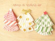 Árboles de NAVIDAD DIY. Punto y ganchillo para bebés ... 9f6ca077074