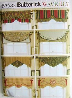 living room window valances black and red sets 101 best treatments images windows sheer curtains butterick sewing pattern 5582 waverly new