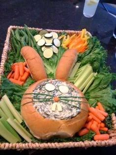 Great idea for Easter dinner. Maybe the boys will help me.
