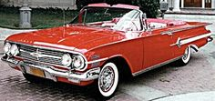 1960 Chevy - my first car was a used '60 Chevy Impala...not a convertible, however.
