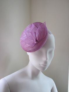 Womens Cocktail Hat Fascinator Orchid Sinamay by MindYourBonce
