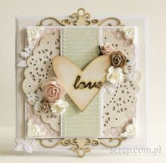 Valentine Love Cards, Valentines, Scrapbook Cards, Scrapbooking, Arts And Crafts, Paper Crafts, Shabby Chic Cards, Diy Cards, Handmade Cards