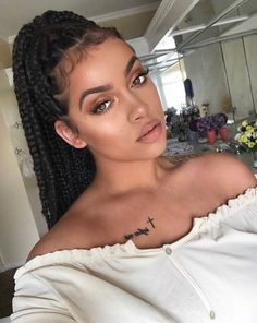 60 Totally Chic And Colorful Box Braids Hairstyles To Wear! #beautyhairstyles