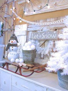 Beautiful and Magical Winter Mantel
