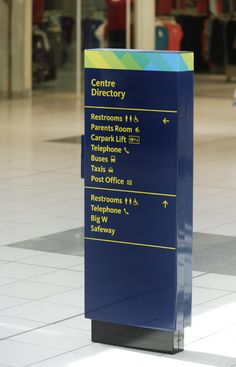Corporate design and wayfinding The Endeavour Hills Shopping Centre, Melbourne, Australia