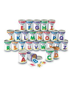 Another great find on #zulily! Alphabet Soup Sorters Set #zulilyfinds
