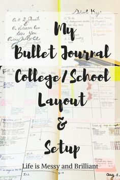 My bullet journal school layout & setup is going to inspire you to organize your bullet journal for the new semester. Each bullet journal college layout was created with the idea of maximizing the space in all the pages of my planner. Bullet Journal Student, How To Bullet Journal, Organization Bullet Journal, Bullet Journal Spread, Bullet Journal Layout, Planner Organization, Bullet Journal Inspiration, Bullet Journals, College Organization