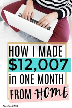 This is AMAZING! She made more than my husband does and she only works 20 hours a week from home! I've been following her blog since she started and she's amazing and so helpful! Her income reports will actually help you to start a blog and to grow it into a full-time income! She really breaks it all down step by step so you can see how to start a money making blog the easy way! These are the best blogging tips out there. She's really the best blogger out there to help other bloggers!