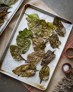 Baked Beet Greens- another easy and delicious alternative to kale chips on WhiteOnRiceCouple.com