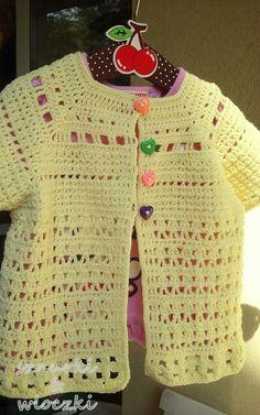 Letni sweterek dla dziewczynki. Technika szydełko