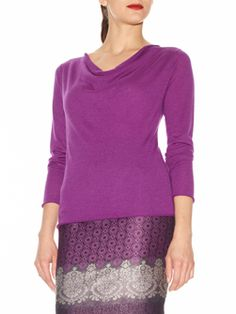 You want color - this shade of Plum is so becoming for YOU!  Doncaster.com-W225SW34PLU-133