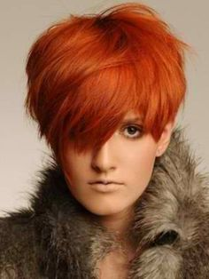 Autumn hair--love the cute and color!!