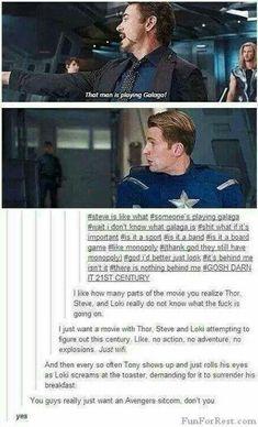 Yes! Avengers sitcom!