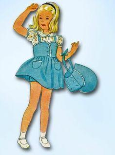 1940s WWII Tiny Tot Dress Bonnet Pattern 1944 Simplicity Sewing Pattern Sz 2 | eBay