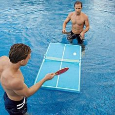 Floating Pool Pong Table. Want it? Own it? Add it to your profile on Unioncy.com #gadgets #technology #electronics