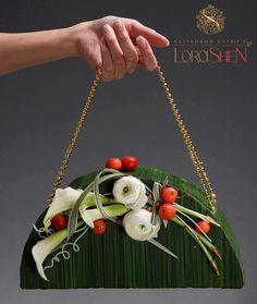 .flower purse wedding