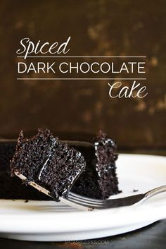 Spiced Dark Chocolate Cake: Grain-Free, Dairy-Free, Paleo, Sugar Free by switching out the honey for Swerve or a similar sugar-free sweetner. Real Food Recipes, Cake Recipes, Dessert Recipes, Cooking Recipes, Yummy Food, Gluten Free Sweets, Paleo Dessert, Healthy Sweets, Dark Chocolate Cakes