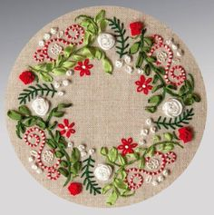 Wreath with red accents