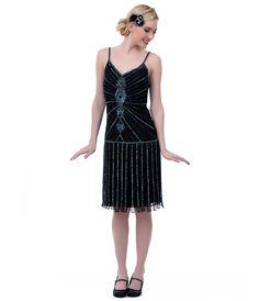 Iridescent Beaded Fringe #Flapper Dress   #uniquevintage