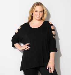 This top is great to dress up or use as weekend wear!!