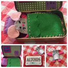 worlds in boxes - mouse house tin box playset