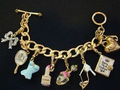 JUICY COUTURE CHARM BRACELET WITH CHARMS for bat mitzvah