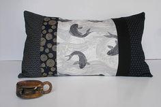 Housse Coussin en patchwork de tissus traditionnels japonais