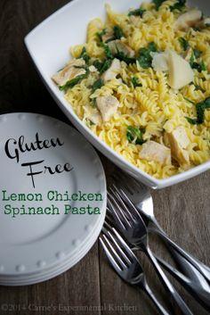 Lemon Chicken Spinach Pasta