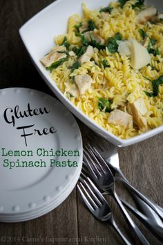 Lemon Chicken Spinach Pasta