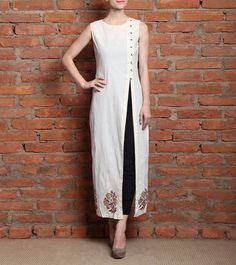 Shop Designer Party Wear Kurtis Bollywood Low Price Sale Offer Color White Heavy…