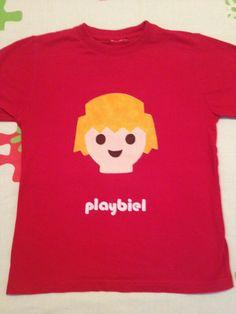 Camiseta niño aplicación patchwork