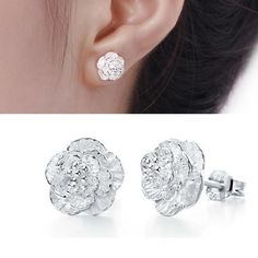 Sterling-silver-jewelry earing brincos pendientes mujer earrings 925 plata stud orecchini oorbellen women jewelry free 925