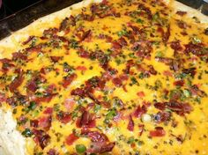 Twice Baked Potato Casserole - you can change out the toppings as you like!