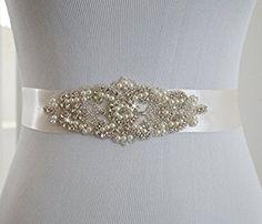 SoarDream Bridal Sash, Wedding Belt, Bridal Belts And Sashes Silver at Amazon Women's Clothing store: