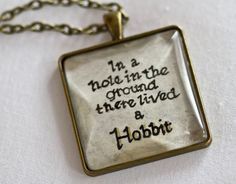 The Hobbit Quote Pendant Necklace J.R.R. Tolkien by kaieldesigns