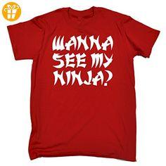 wanna see my ... fonfella flip t shirtsDamen T-Shirt Rot Rot - Shirts mit spruch (*Partner-Link)