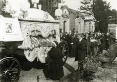 In 1923, then-Servant of God Therese Martin's remains were exhumed, placed in a new coffin, and brought to the Lisieux Carmel in a formal procession.
